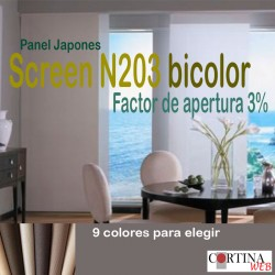 Panel Japonés Screen N203 bicolor