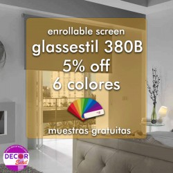 Estor enrollable glassestil 380 bicolor